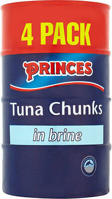 PRINCES TUNA CHUNKS IN BRINE 4 x 160g