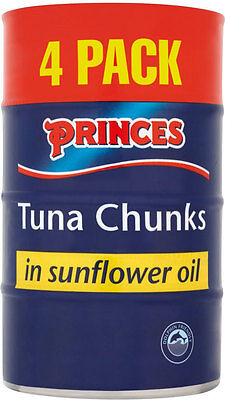 PRINCES TUNA CHUNKS IN SUNFLOWER OIL 4 x 160g
