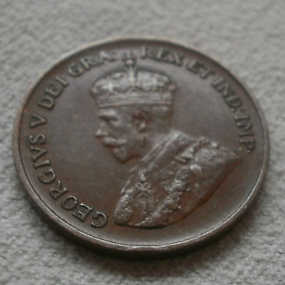 1934 Canada Canadian small cents one cent penny coin