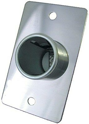 """Prime Products Receptacle 12 Volt Small CHROME 1-5/8 X 2-5/8"""" 08-5015 FREE SHIP"""
