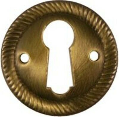 Antiqued Finish  Stamped Brass Key Hole Cover  Ab0239