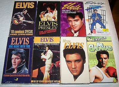 ELVIS PRESLEY Collection: Lot of 8 VHS-Video Tapes [1989-2002] New & Sealed