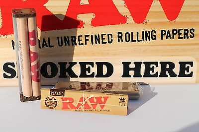 RAW ROLLING PAPER KING COMBO 110mm roller + king size slim paper+ paper tin