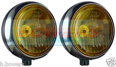 """Pair Of Stainless Steel Chrome 7"""" Cibie Oscar Yellow Spot/driving Lamps/lights"""