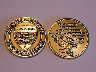 Military Challenge Coin - Airman's Psalm