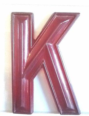 """Theatre Marquee Letters-17"""" Red Translucent Snap Lok- 3D Style (Vintage/Used)"""