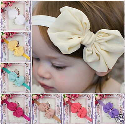 Cute Adorable Children Baby Bow headband Soft Elastic Hair Accessories Band New
