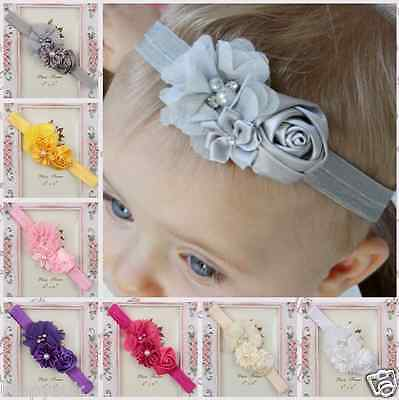 Cute Adorable Children Baby Flower headband Soft Elastic Hair Accessories Band