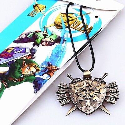 The Legend of Zelda Bronze Alloy Pendant Necklace Brand New