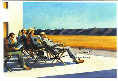 Kunstpostkarte  -  Edward Hopper:  People in the Sun