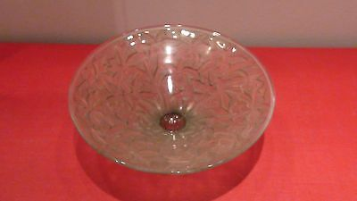 Phoenix Consolidated Art Glass-Orchids Console Bowl