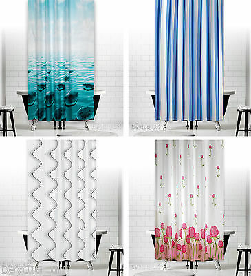 Bathroom Shower Curtains Extra Long, Wide or Narrow Different Sizes And Designs
