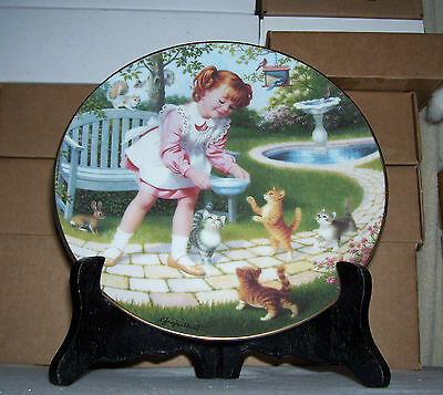 Danbury Mint Children of the Week/Friday's Child by Elaine Gignilliat Plate COA