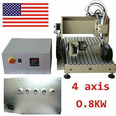 CNC Router 3040 4Axis Engraver Engraving Milling Metal Wood PVC Cutting Machine