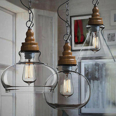 Modern Glass Ceiling Lights Shade Vintage Chandeliers Kitchen Pendant Lighting