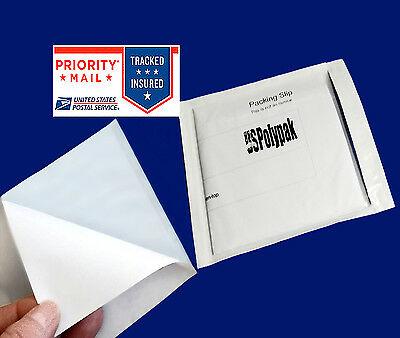 "200  6""x4 1/2"" Clear Packing List Box Slips Envelopes Pouch Shipping Transparent"