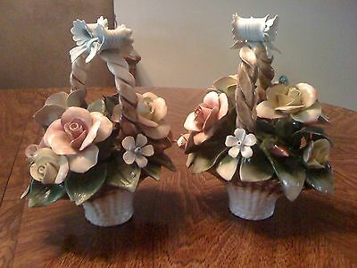 Capodimonte Flower baskets (Set of 2)