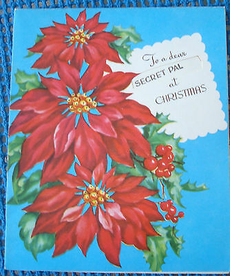 1950s VINTAGE HAWTHORNE SOMMERFIELD CHRISTMAS GREETING CARD NOT USED