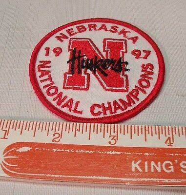1997 Vintage University of Nebraska National Champions Patch