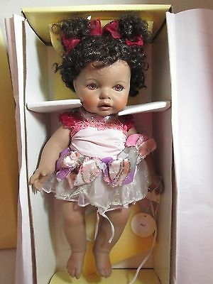 The Palmary Collection Three Heart BEE Porcelain Doll COLLECTIBLE w/Box & Certif