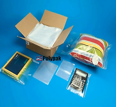 25 - 1000 2Mil Clear Poly Bags Lay-flat Open Top LLPE Plastic 2ml Thick Polybags