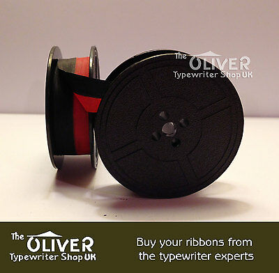 Imperial Typewriter Ribbon And Spool. (Red And Black)