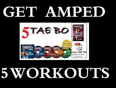 5-on-4 TaeBo GET AMPED Workouts TAE BO Billy Blanks +FREE Health & Fitness Bonus