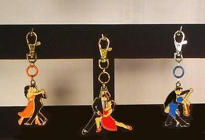 Unique Ballroom Dance Gifts/ Trio of Clip Chains (Red, Blue and Orange)