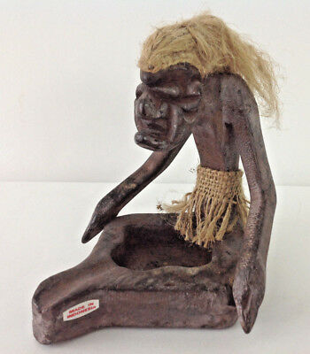 African Handcrafted Tribal Figure Wooden Made in Indonesia