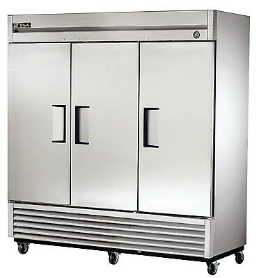 NEW TRUE COMMERCIAL 3 DOOR REACH IN REFRIGERATOR NSF APPROVED T-72