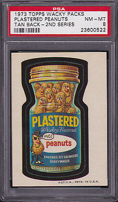 1973 Topps Wacky Packages PLASTERED PEANUTS (TB) PSA 8 NM/MT Series 2 PACKS