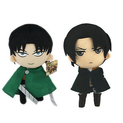 2pcs Attack on Titan Levi Rivaille Plush Doll Soft Figure Toy 12 Inch US Ship