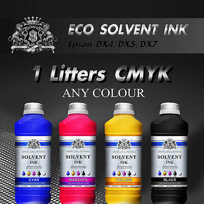 1 Liter Any Colour Eco Solvent ink for Roland, Mimaki, Mutoh - Epson DX2/4/5/7