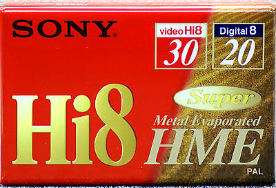 SONY E5-30HME2  Hi-8 Metal Evaporated Tape 30 minutes  Digital 8 20 minutes D8