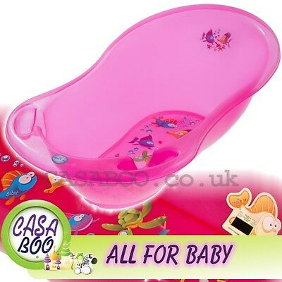 AQUA  LUX  Large Baby Bath Tub with   thermometer  - 102 cm - Great Price PINK