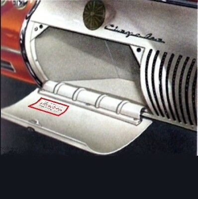 Glove Box with Decal & Mtg Screws for 1955-1956 Chrysler & Imperial