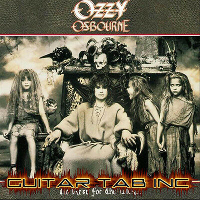 Ozzy Osbourne Digital Guitar Bass Tab NO REST FOR THE WICKED Lessons Disc Wylde