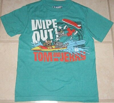 Old Navy TOM AND JERRY WIPE OUT Boys Youth T-Shirt S M L XL New NWT Kids Cartoon