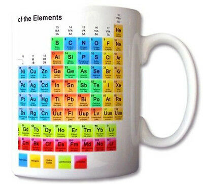 Periodic Table of the Elements Mug Chemistry Student Teacher Gift Cup Gift Retr