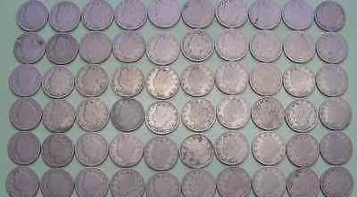 """Lot Full Date Liberty """"V"""" Nickels 1lot=1coin"""