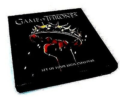 Game of Thrones Sigil set 4 Coasters 2nd season NEW SEALED FREE SHIP TRACK US