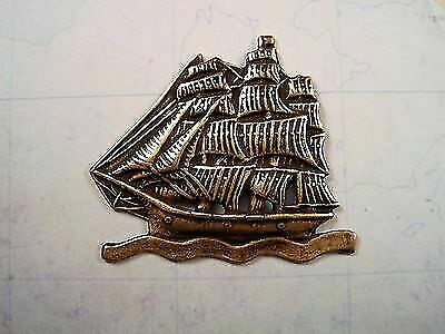 Oxidized Brass Ship Stamping (1) - BOS4913