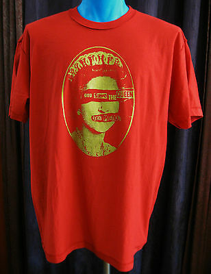 NWOT SEX PISTOLS Red Inside Out Tee Shirt Size XL GOD SAVE THE QUEEN