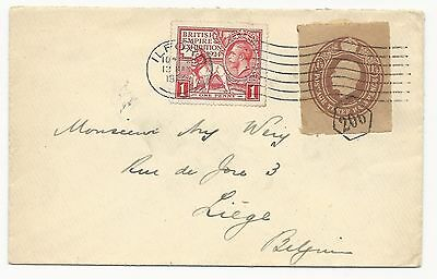 Great Britain 185, 186 & Entire Piece Tied to Cover 1924