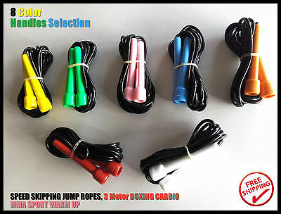 CARDIO Exercise Speed Fitness GYM BOXING MMA Sports 3M Skipping Jump Ropes