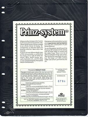 5  Prinz System booklett 4  strip single sided Pages  stock sheet
