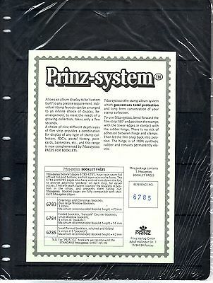 5  Prinz System booklett 5  strip single sided Pages stock sheet