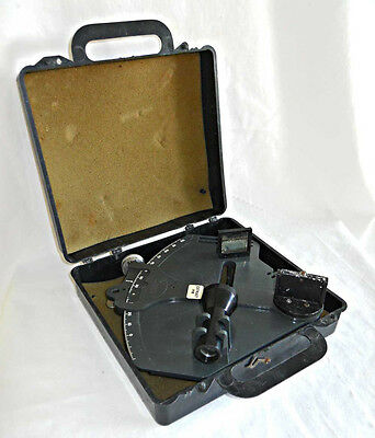 Vintage EBBCO Plastic Celestial Navigation Sextant With Case & Instructions Book
