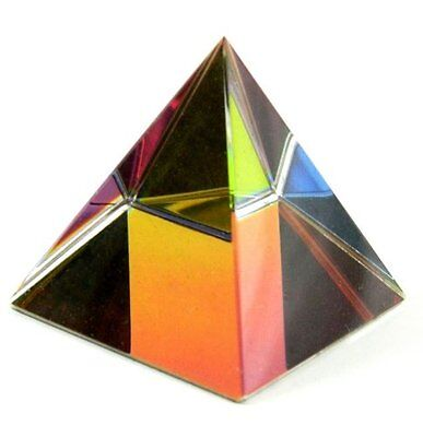 50mm Crystal Colorful Pyramid Statue Cut Glass Oranament