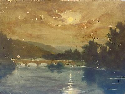 FANTASTIC  SIGNED 1914  TONALIST LANDSCAPE PAINTING  by A. TURIN